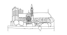Notre Dame drawing by coconut