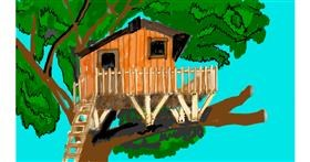 Drawing of Treehouse by SAM AKA MARGARET 🙄
