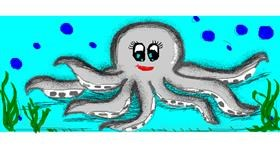 Octopus drawing by Angelica