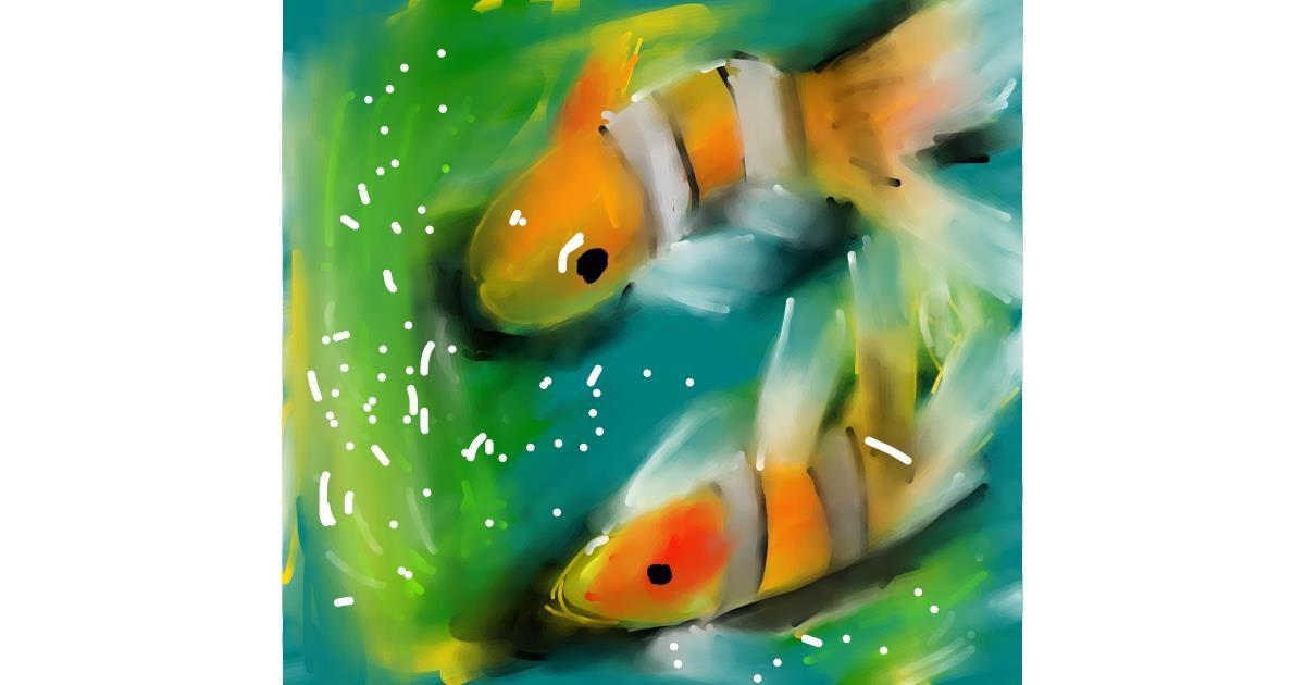 Drawing of Clownfish by Obi-wan