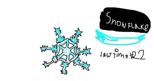 Snowflake drawing by Emmaisnotintresetedand