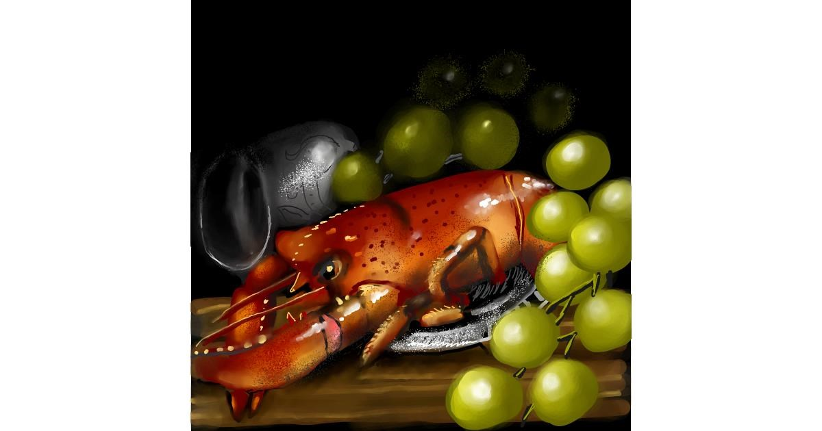 Drawing of Lobster by Leah