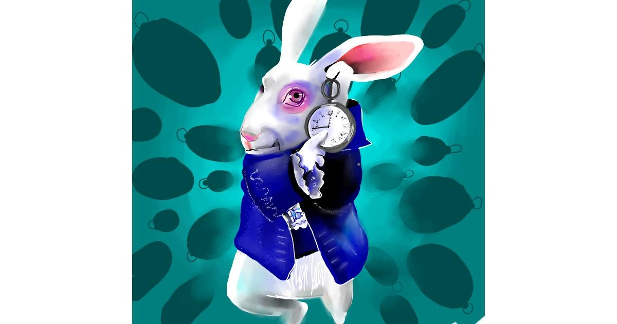 Rabbit drawing by Rose rocket