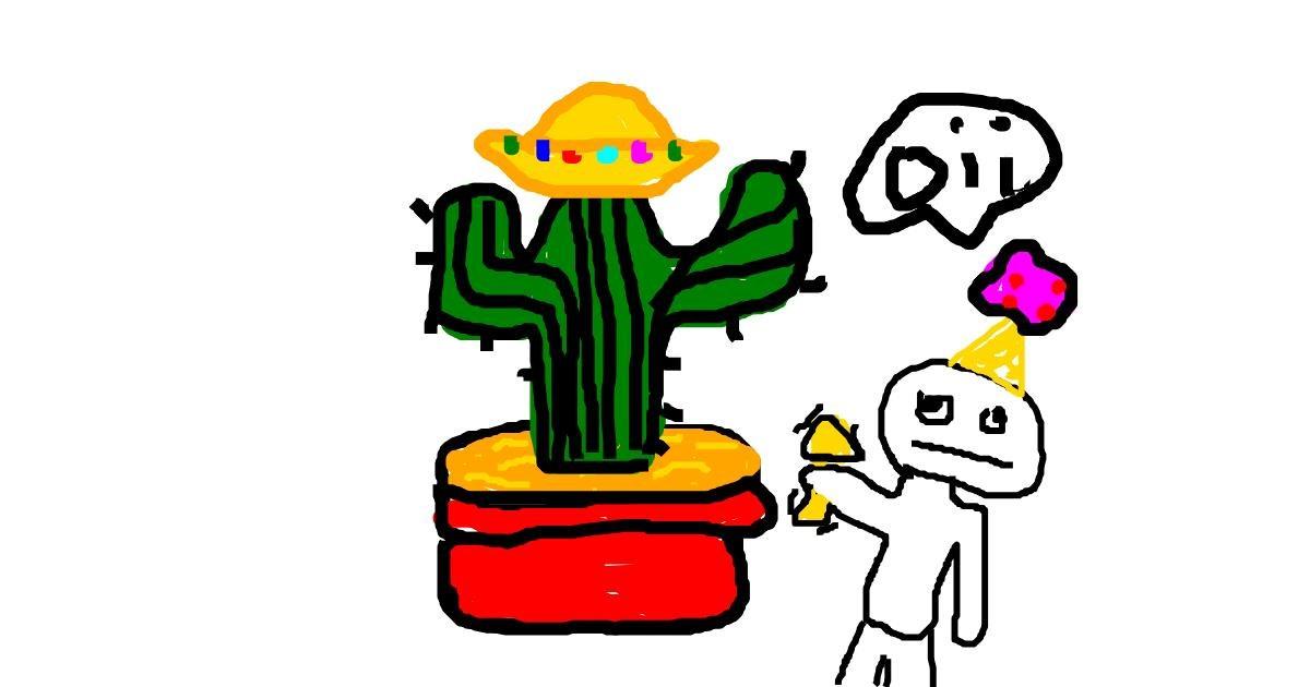 Cactus drawing by Ji-soo