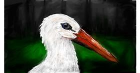Stork drawing by Soaring Sunshine