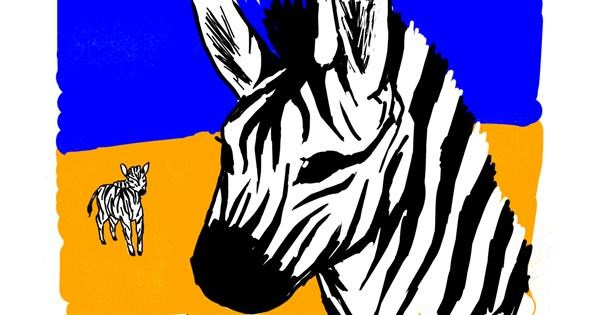 Zebra drawing by Peppa