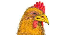 Drawing of Chicken by POOPERDOOPER