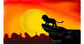 Drawing of Simba (Lion King) by Swan