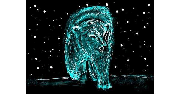 Polar Bear drawing by Tara