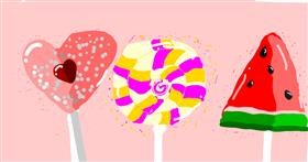 Lollipop drawing by Ur my frnds