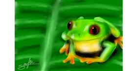 Frog drawing by Sophie_draw24