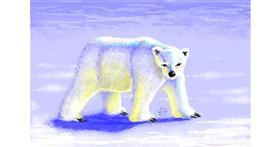 Polar Bear drawing by Jevil