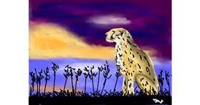 Cheetah drawing by Thanivok