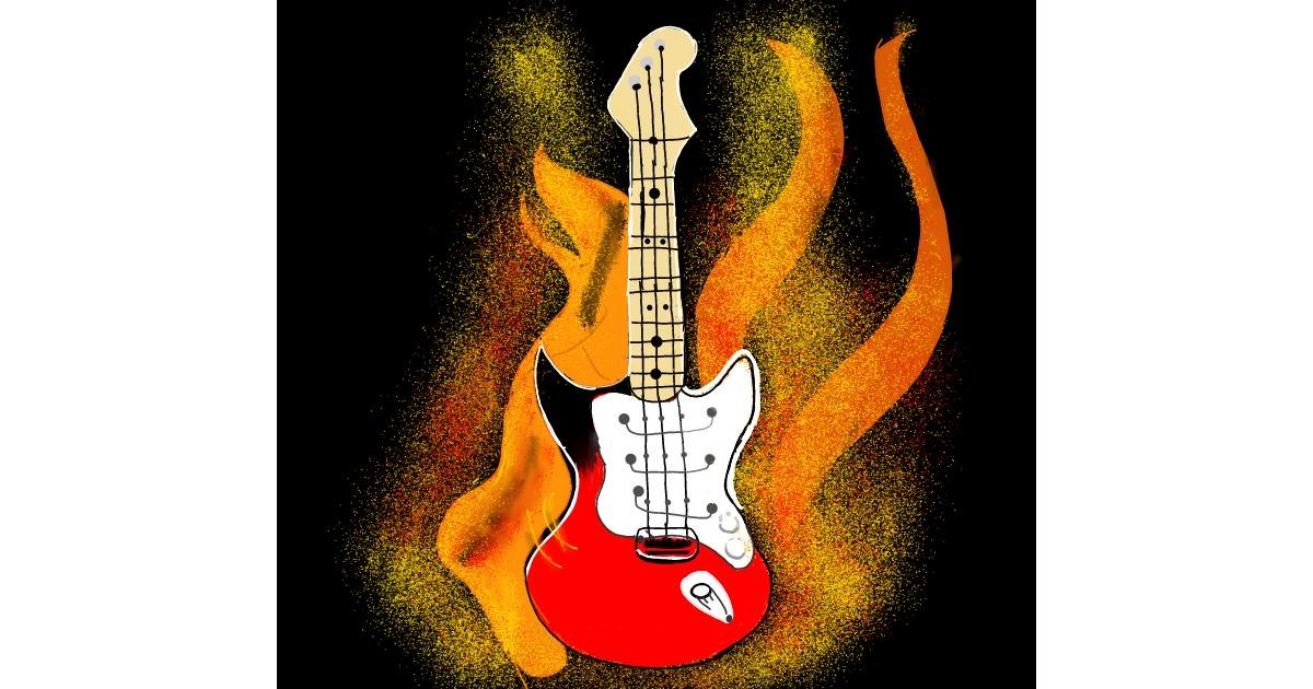 Guitar drawing by Pruthvi
