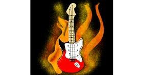 Drawing of Guitar by Pruthvi