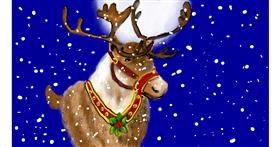 Drawing of Reindeer by SAM AKA MARGARET 🙄