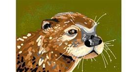 Drawing of Otter by Rain