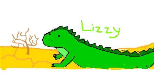 Lizard drawing by Jackie