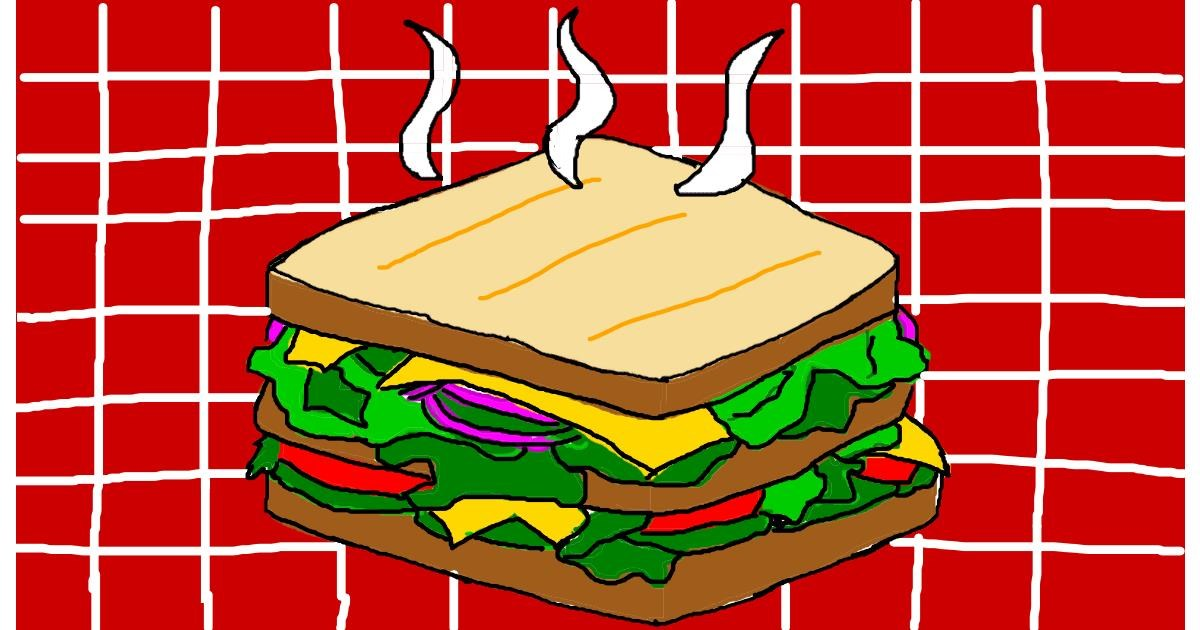 Sandwich drawing by Anonymous
