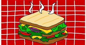 Drawing of Sandwich by Anonymous