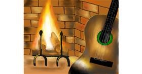 Drawing of Guitar by Cec