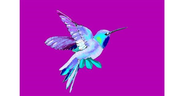 Hummingbird drawing by ThasMe13