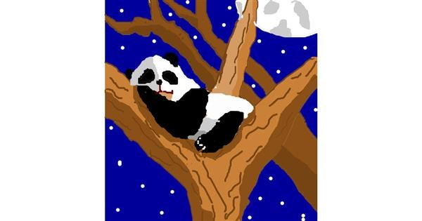 Panda drawing by jjman