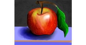 Apple drawing by Freny