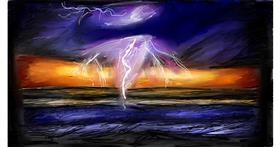 Lightning drawing by Soaring Sunshine