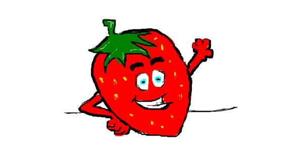Strawberry drawing by bella