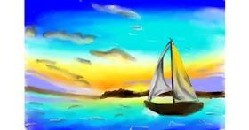 Sailboat drawing by (luna lovegood)