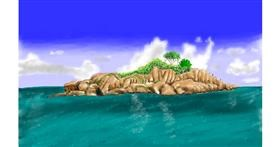 Island drawing by Bicho
