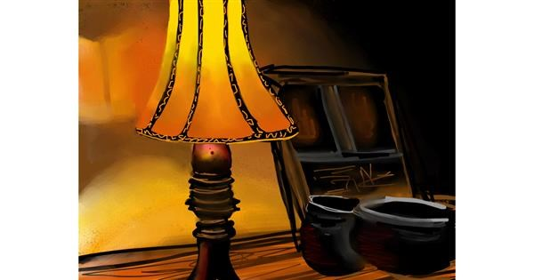 Lamp drawing by Bro 2.0😎