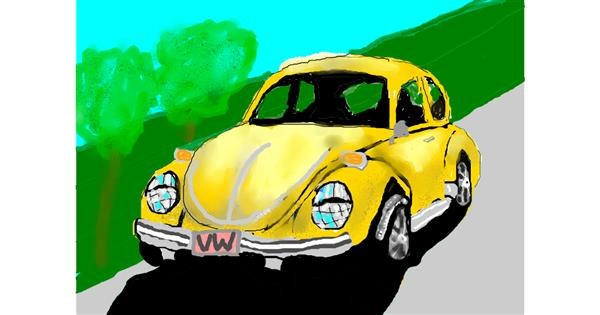 Car drawing by Debidolittle