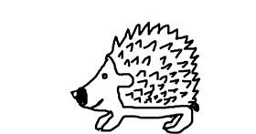 Drawing of Hedgehog by Lomba