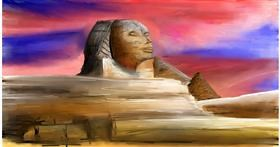 Sphinx drawing by Soaring Sunshine
