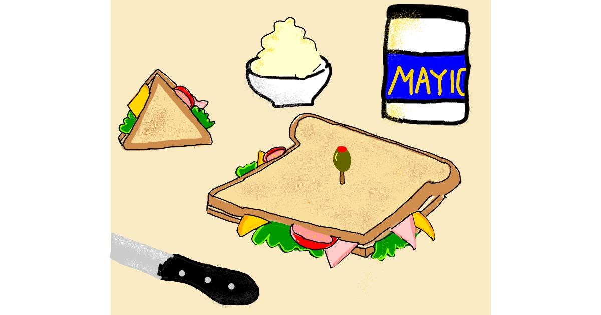 Sandwich drawing by Christine 2