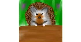Hedgehog drawing by Jinx
