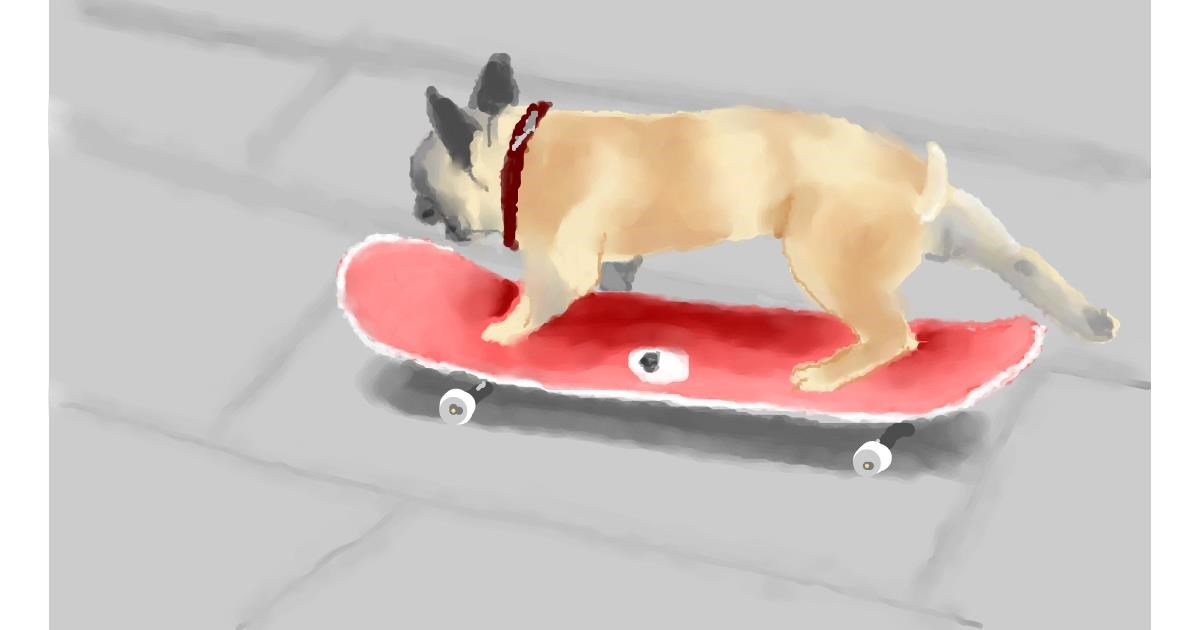 Skateboard drawing by Pinky
