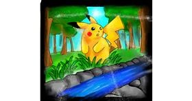Drawing of Pikachu by LiLMonkey