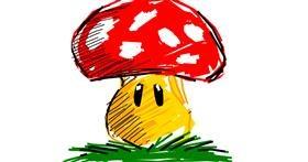 Drawing of Mushroom by Derp