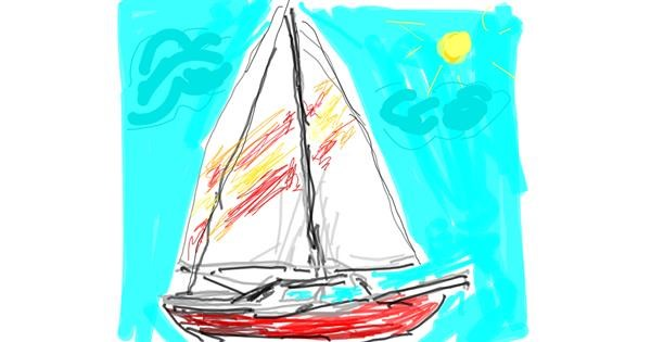 Boat drawing by ZiaBLo