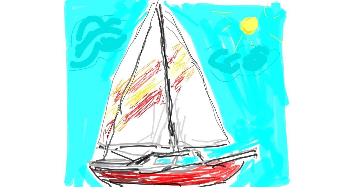 Boat drawing by ZiaBLo