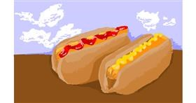 Drawing of Hotdog by RonNNIEE