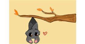 Bat drawing by Redd_Pandaii