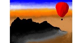 Hot air balloon drawing by Jack536