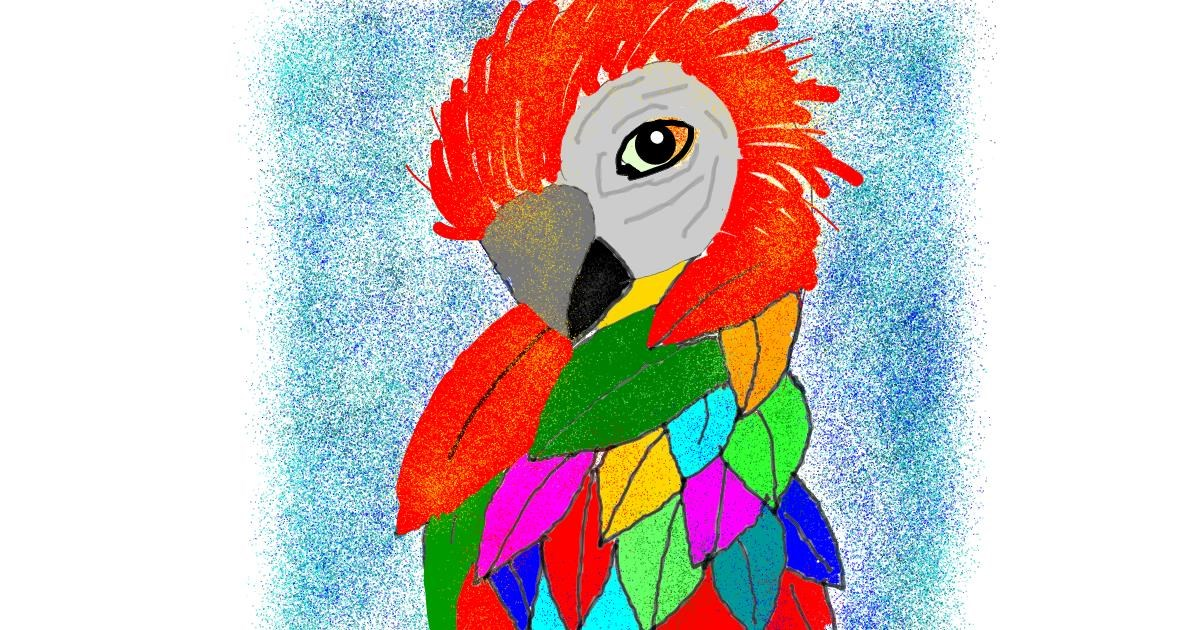 Parrot drawing by Leni