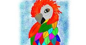 Drawing of Parrot by Leni