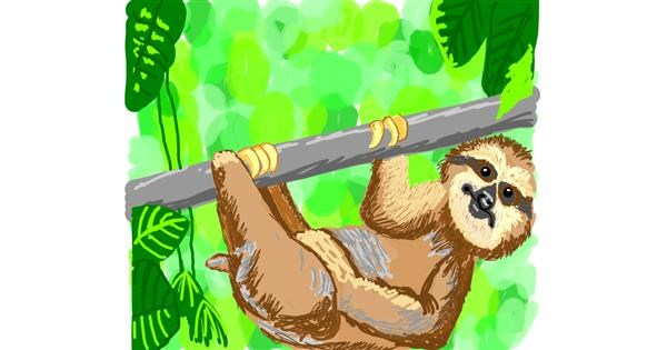 Sloth drawing by Geo-Pebbles