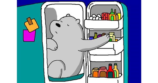 Refrigerator drawing by InessaC